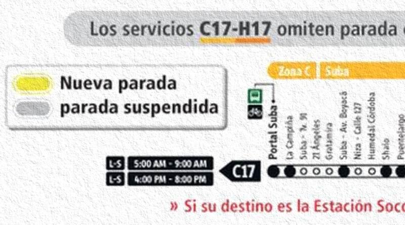 Servicio de Transmilenio B23-K23 tiene cambios
