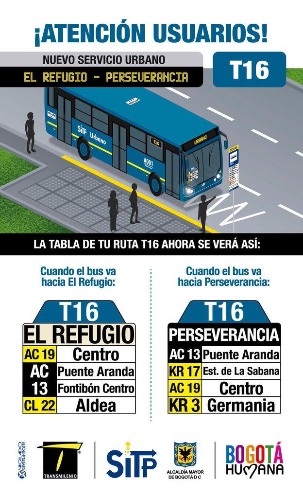 Nueva urbana T16 El Refugio - La Perseverancia