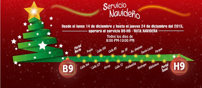Del 14 al 24 aprovecha el servicio B9-H9 de Transmilenio
