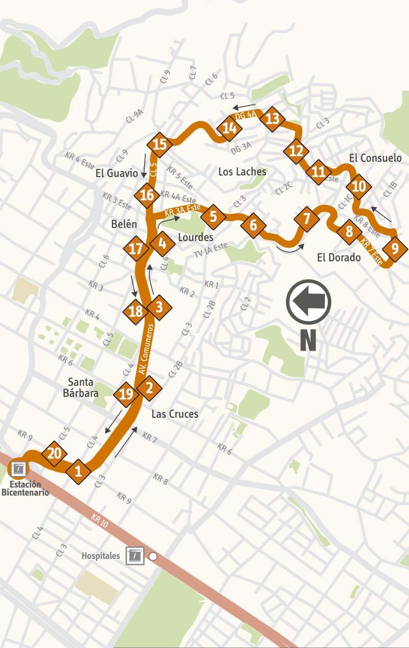 Ruta SITP: 14-3 → Girardot [Complementaria]