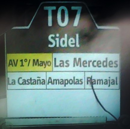 Ruta SITP: Ruta T07 Sidel [Especial T] 1