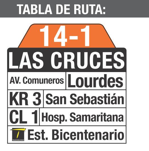 Ruta SITP: 14-1 → Las Cruces [Complementaria] 3