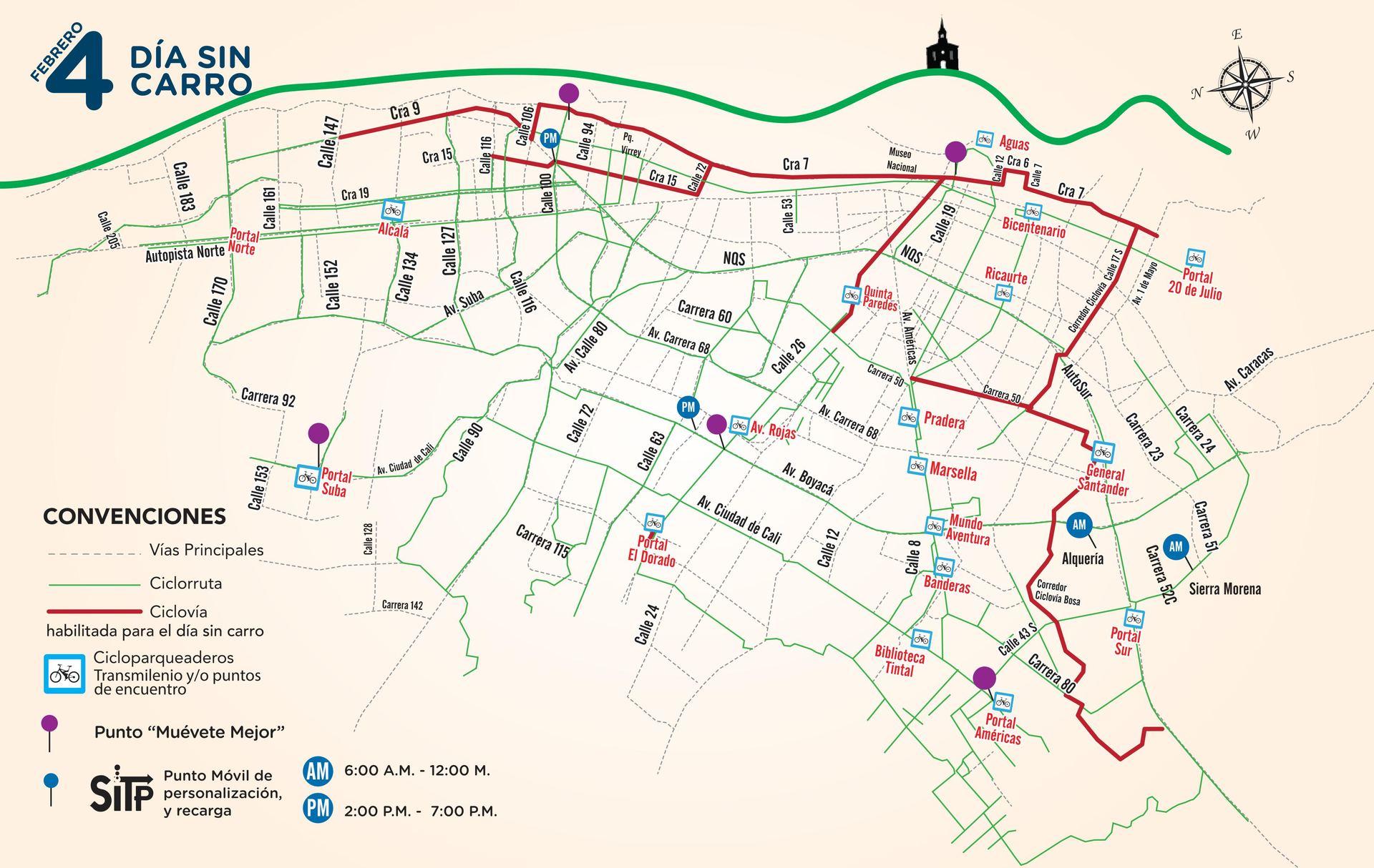 A moverse en bici el Día Sin Carro y Sin Moto en Bogotá