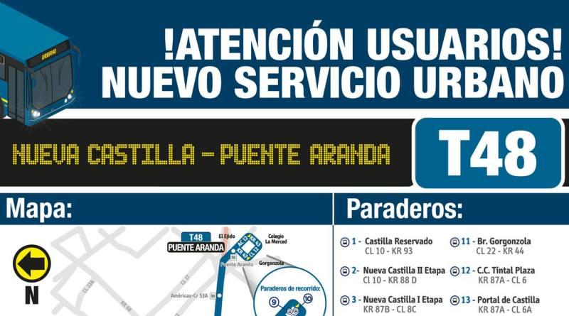 Nueva urbana - T48 Nueva Castilla - Puente Aranda 1