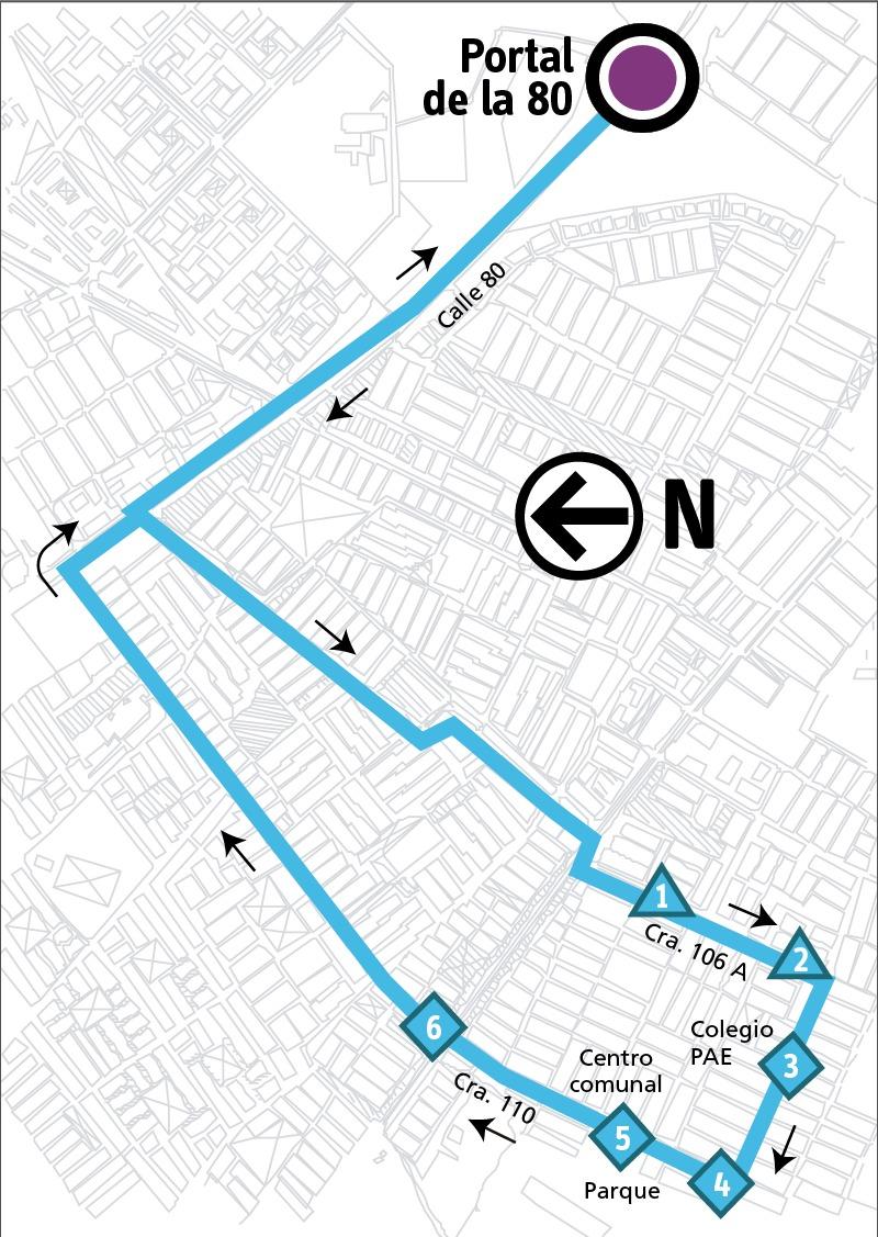 Ruta SITP: 1-9 Villas del Dorado [Alimentador]