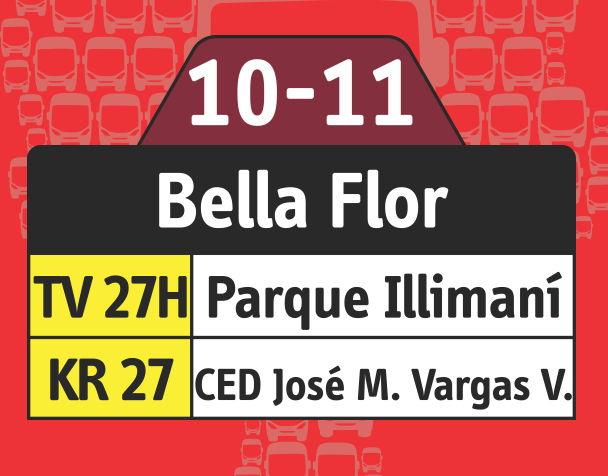 Ruta SITP: 10-11 Bella Flor [Especial] 4