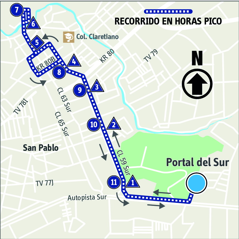 Ruta SITP: 10-1 ➜ Avenida Bosa [Alimentador]