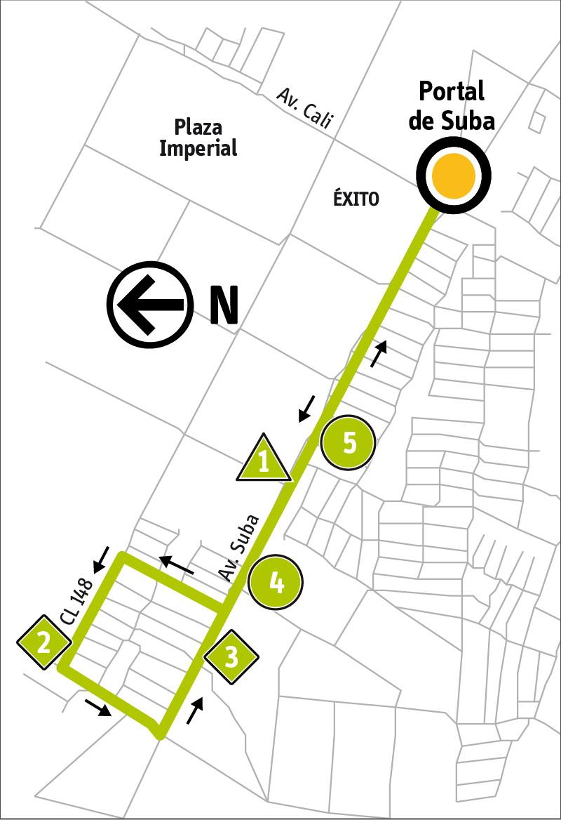 Ruta SITP: 11-1 ➜ Avenida Suba [Alimentador]