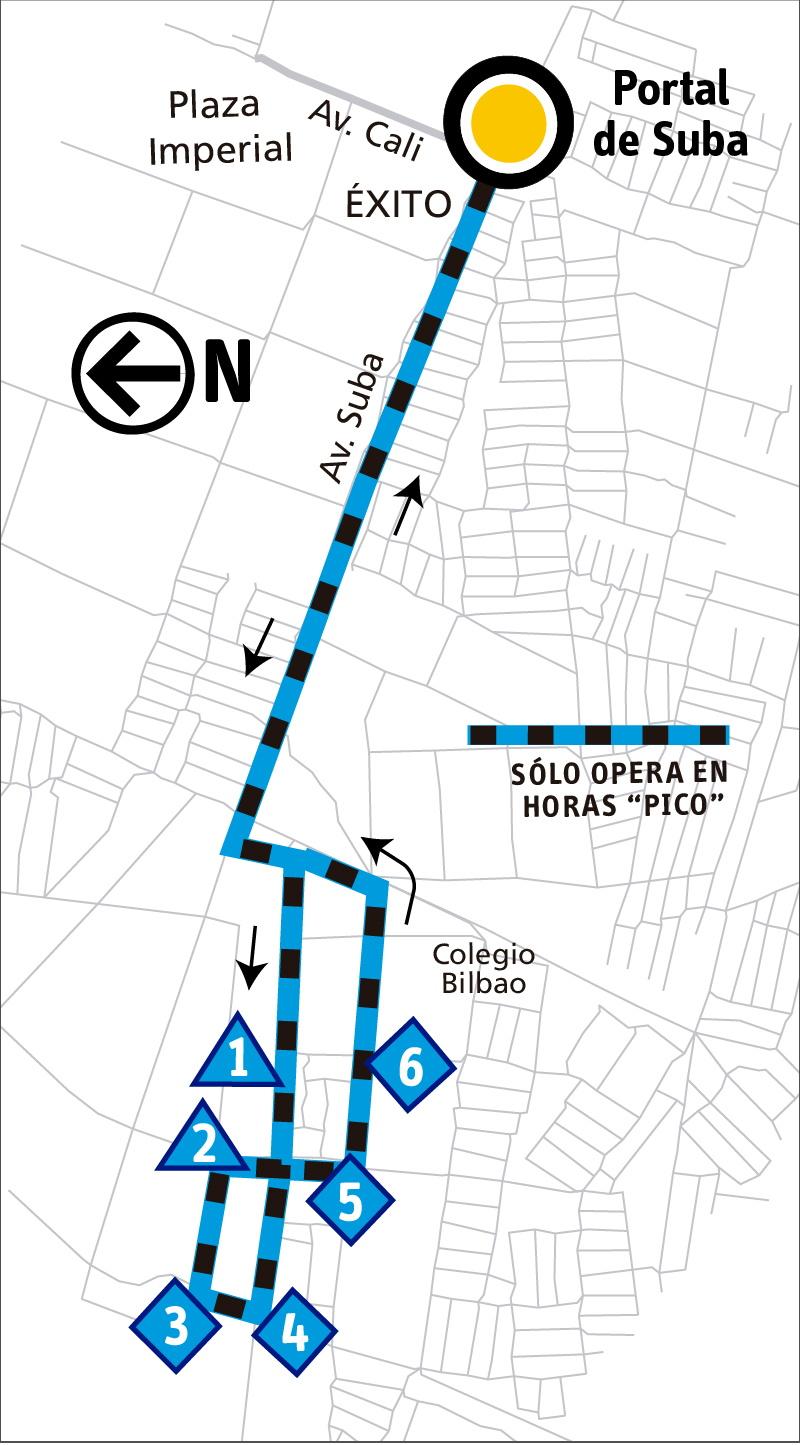Ruta SITP: 11-2 San Andrés [Alimentador]