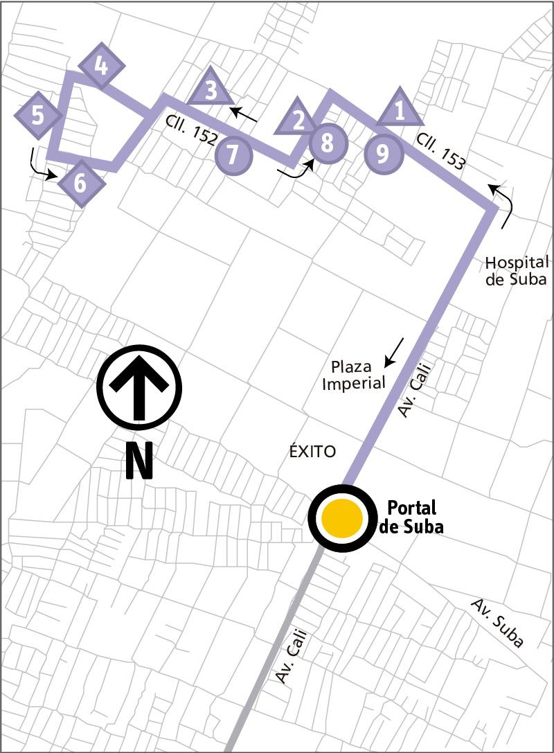 Ruta SITP: 11-6 Las Mercedes [Alimentador]