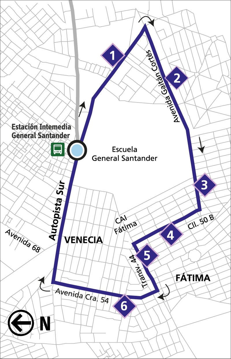 Ruta SITP: 12-1 ➜ Fátima [Alimentador]