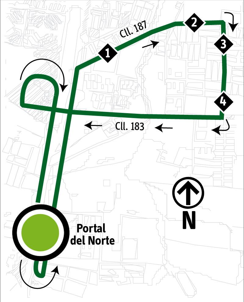Ruta SITP: Ruta 2-10 ➜ Bervenal [Alimentador]
