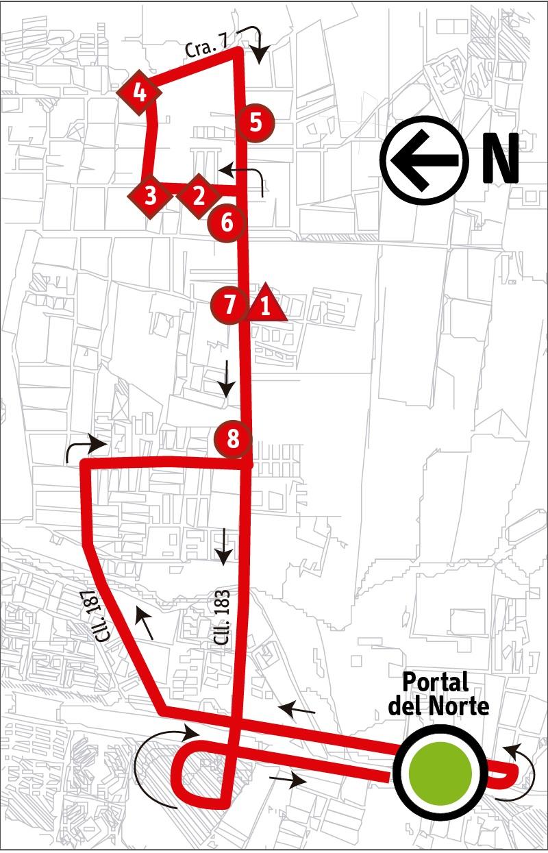 Ruta SITP: Ruta 2-3 ➜ San Antonio [Alimentador]