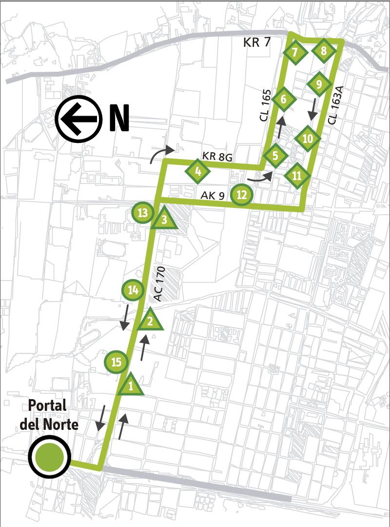 Ruta SITP: Ruta 2-5 ➜ San Cristóbal [Alimentador]