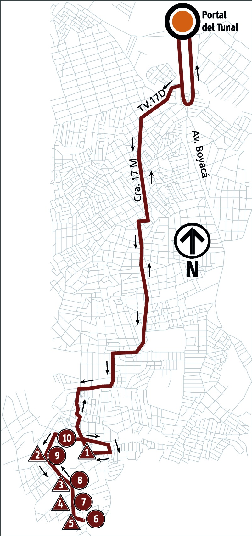 Ruta SITP: 6-5 ➜ Tesoro [Alimentador]
