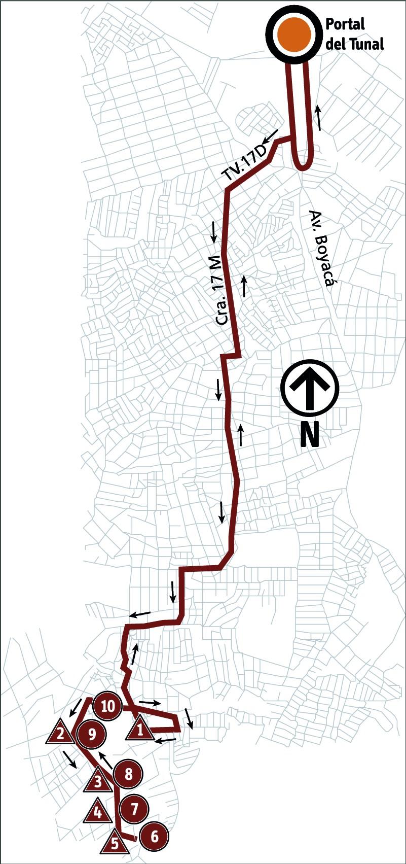 Ruta SITP: 6-5C ➜ Ampliación Arabia [Alimentador]