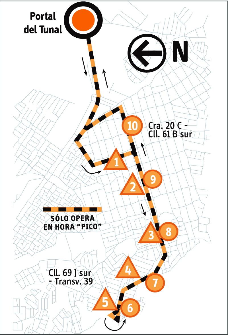 Ruta SITP: 6-6 ➜ Juan José Rondón [Alimentador] 1