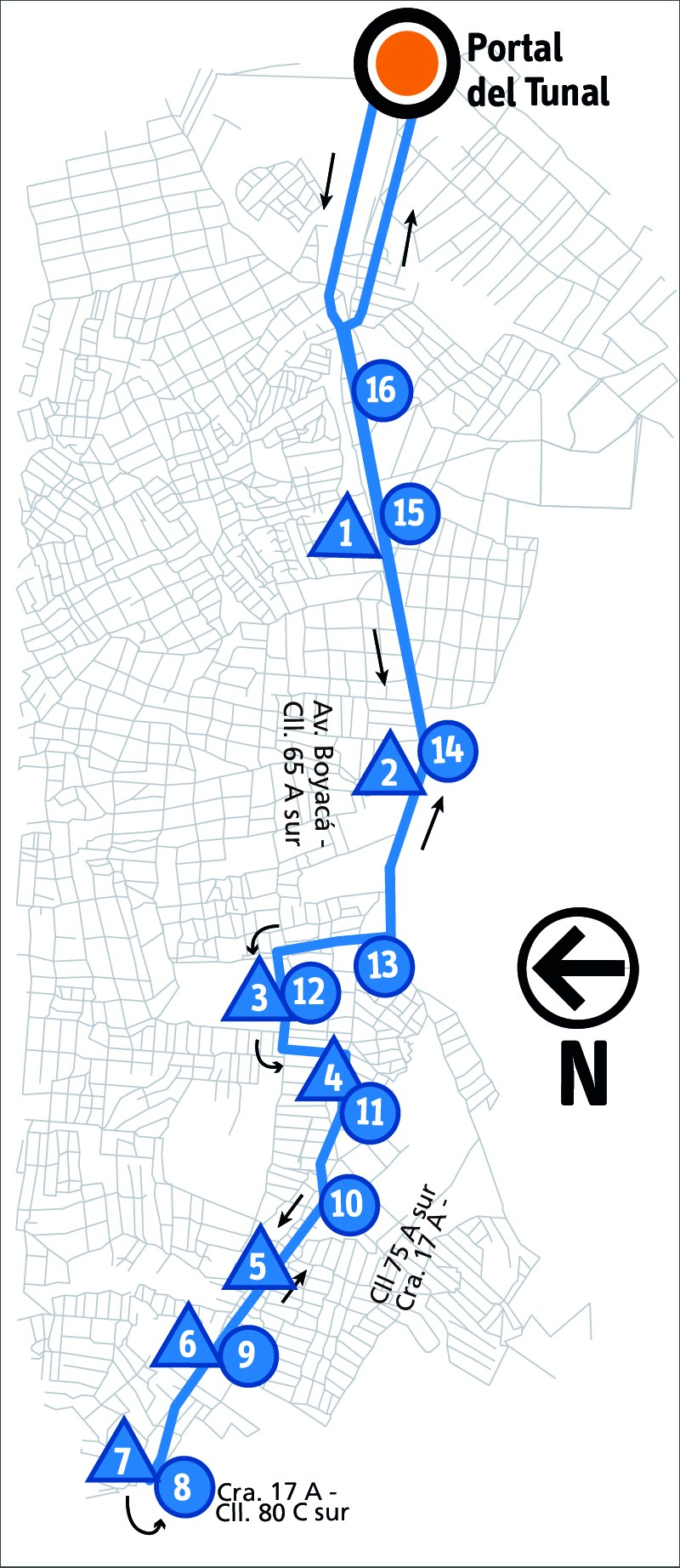 Ruta SITP: 6-7 ➜ San Joaquín [Alimentador]