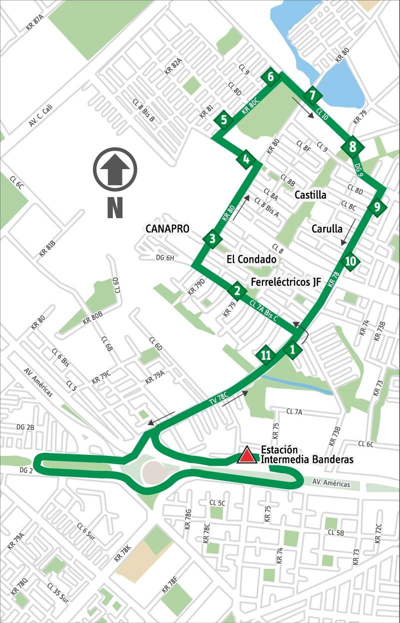 Ruta SITP: 8-3 ➜ Castilla [Alimentador]