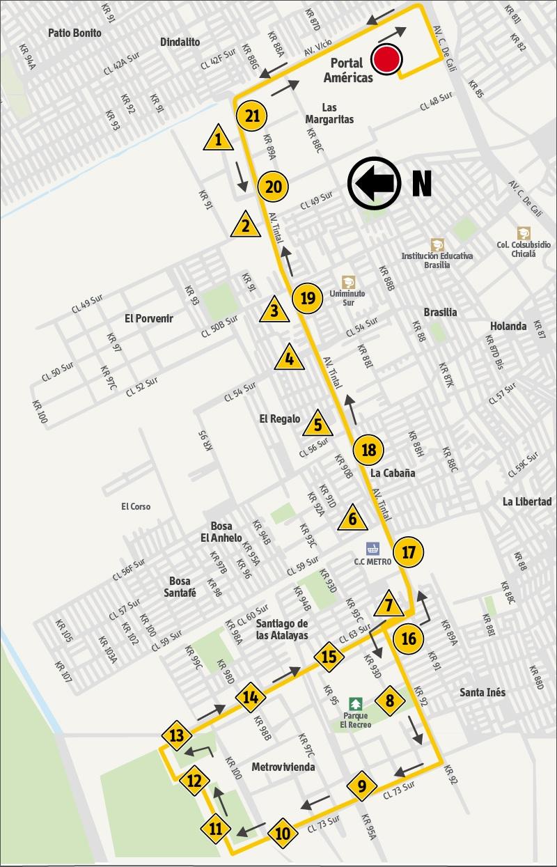 Ruta SITP: 9-2 ➜ Metrovivienda [Alimentador]