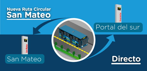 Nueva ruta CIRCULAR San Mateo