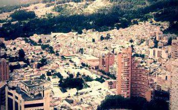 Ciudad de Bogotá vista desde el aire