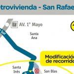 Ruta 111 urbana tiene cambios en su recorrido