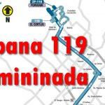 Se elimina la ruta urbana 119 del SITP