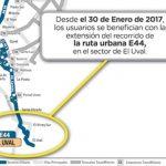 Urbana E44 del SITP tiene ampliación de recorrido en el Uval