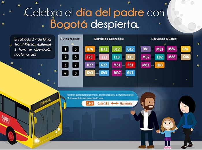 Bogotá Despierta - Transmilenio opera 1 hora adicional
