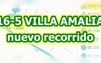 Aviso de cambios en la ruta 16-5 alimentador Villa Amalia, nuevo recorrido y paraderos desde julio 2017