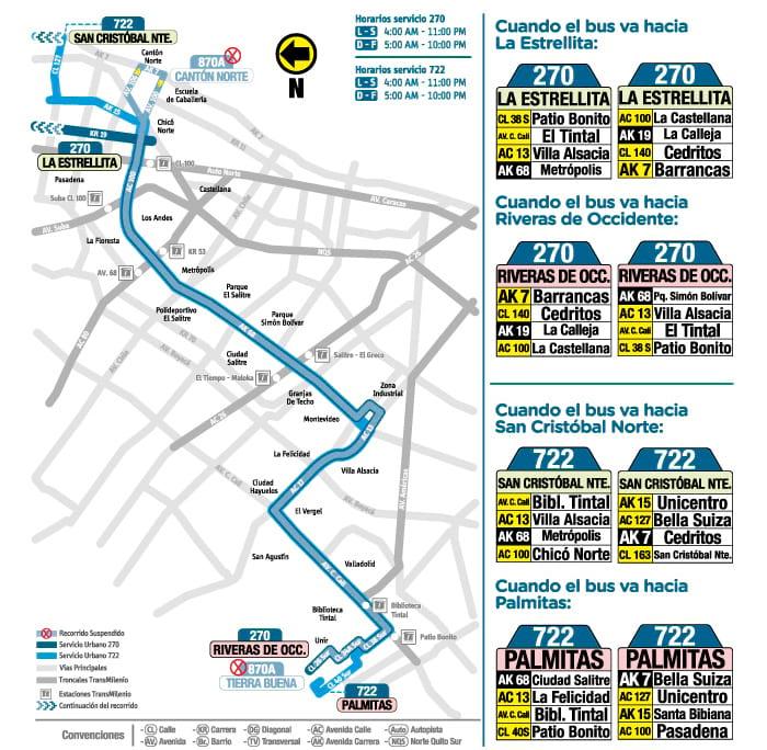 Ruta urbana 870A deja de circular