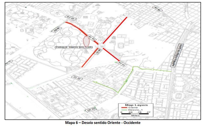 Cierres y desvíos 7a VALIDA COPA COLOMBIA DE TRIATLON - zona 5