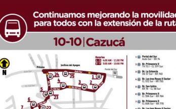 Ruta 10-10 Cazucá