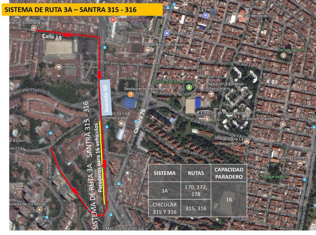 Cambios en rutas de bus Medellín por visita del Papa Francisco (3)
