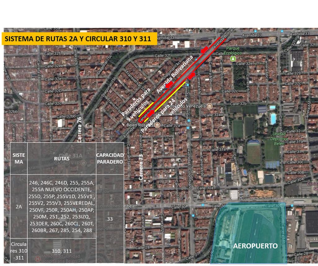 Cambios en rutas de bus Medellín por visita del Papa Francisco (6)