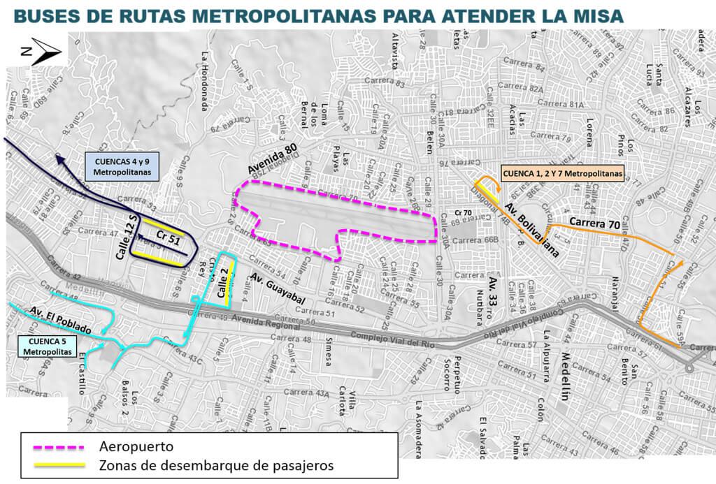 Cambios en rutas de bus Medellín por visita del Papa Francisco (7)