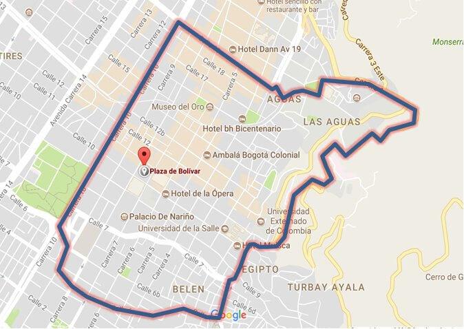 Cierre perímetro Plaza Bolívar - visita papal