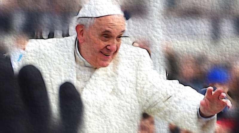 Papa Francisco saludando