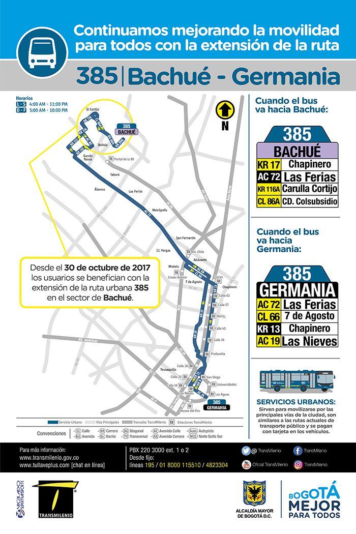 Bus urbano 385 BACHUÉ - GERMANIA