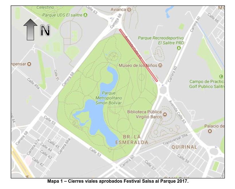 Mapa cierres por FESTIVAL SALSA AL PARQUE 2017
