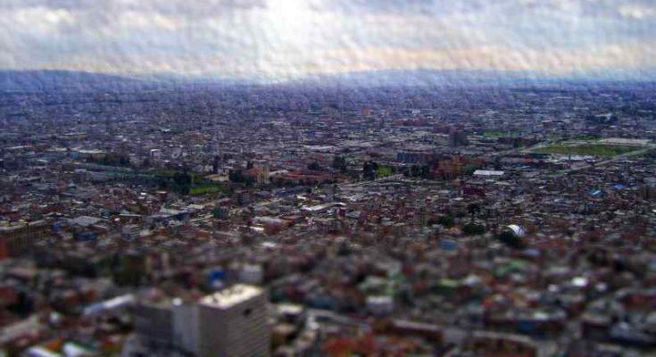 Imagen de la ciudad de Bogotá en la distancia