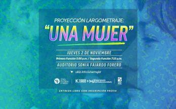 UNA MUJER - anuncio presentación en Bogotá