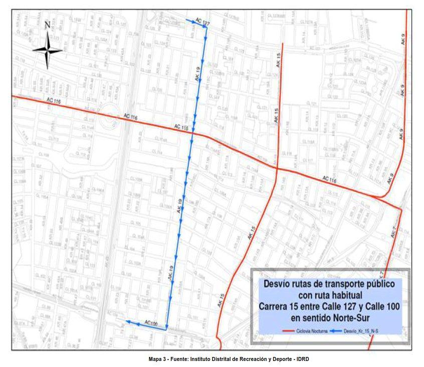 Desvíos para vehículos particulares durante la CICLOVÍA NOCTURNA diciembre 2017 (3)