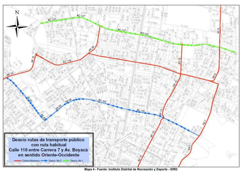 Desvíos para vehículos particulares durante la CICLOVÍA NOCTURNA diciembre 2017 (4)