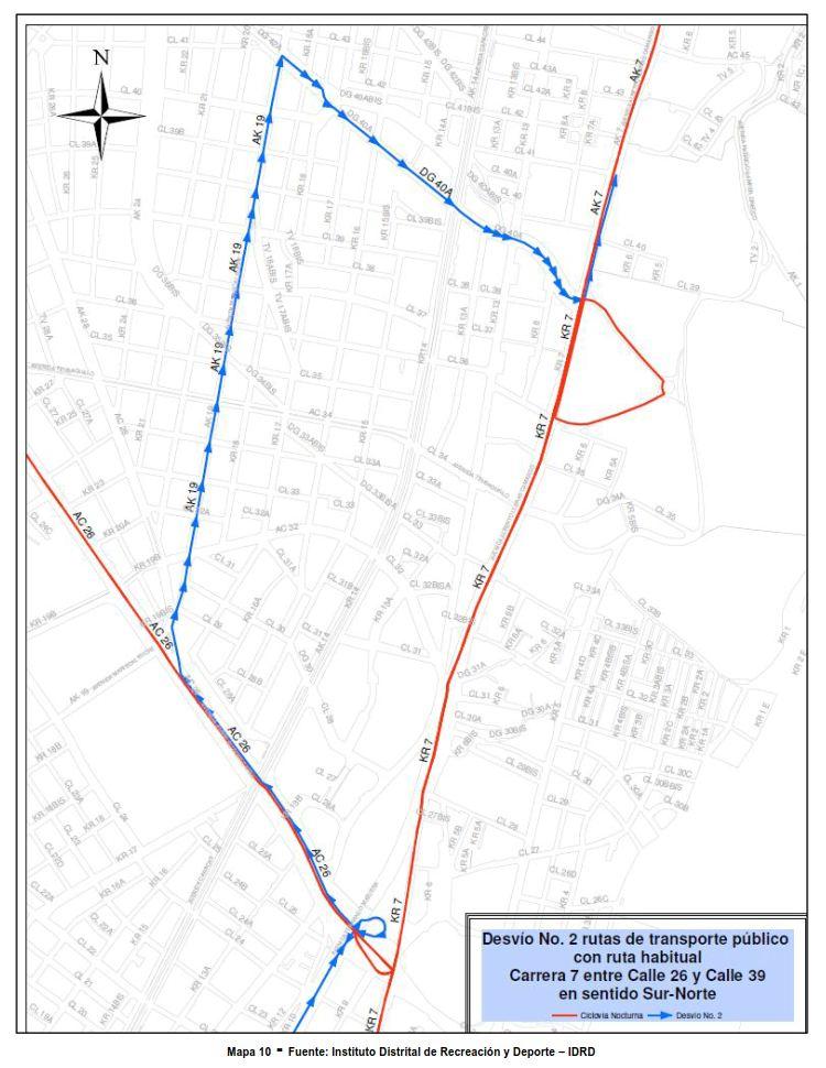 Desvíos para vehículos particulares durante la CICLOVÍA NOCTURNA diciembre 2017 (10)