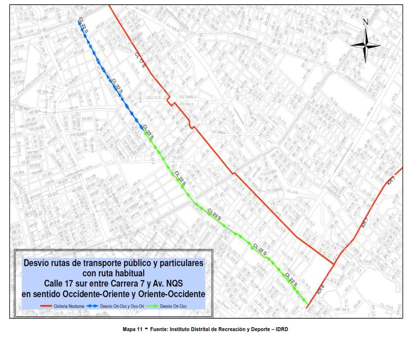 Desvíos para vehículos particulares durante la CICLOVÍA NOCTURNA diciembre 2017 (11)