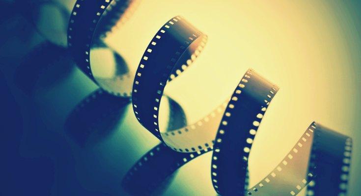 Película de cine desenrollada