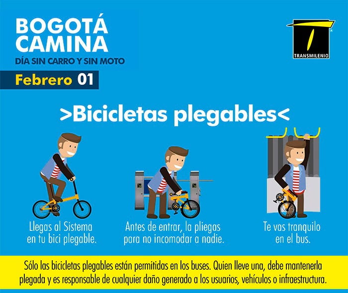 Uso de bicis plegables en SITP y TransmilenioUso de bicis plegables en SITP y Transmilenio