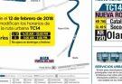Cambio de horarios TC14